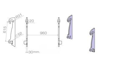 HAKENSET: VOLVO L50 L60 L70 L90 (3OMM)