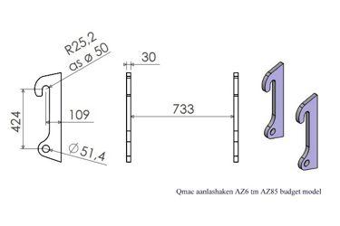 HAKENSET: AHLMANN AZ 6 t/m AZ 85 BUDGET