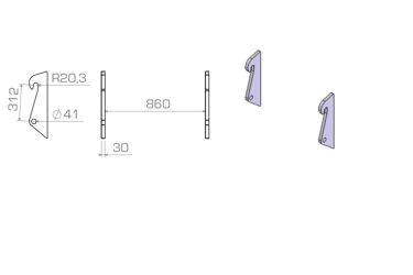 HAKENSET: KOMATSU WA 65 75 85