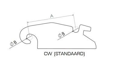 HAKENSET: CW30 STANDAARD 475MM (35MM)
