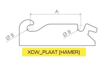 HAKENSET: XCW10 HAMER 350MM (25MM)