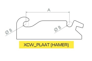 HAKENSET: XCW40 HAMER 475MM (40MM)