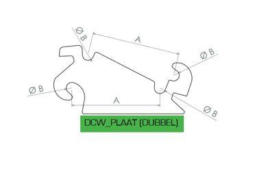 HAKENSET: DCW10 DUBBEL 300MM (25MM)