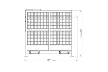 QMAC WERKKOOI 2.40 X 1.33 EURO+LEPEL