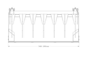 Qmac Hoogkiep pelikaanbak 1.80M
