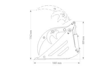 QMAC SPIJLENBAK / PUINBAK MET KLEM 1.60